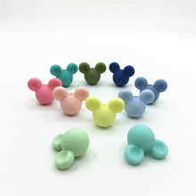 10pcs/lot BPA Free Loose Silicone Mickey Beads Food Grade Teething Beads For DIY Silicone B