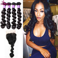Short Human Hair Weave With Closure Beauty Loose Wave With Closure Hair Weave For Sale Lace Closure With Bundles Yolissa Hair
