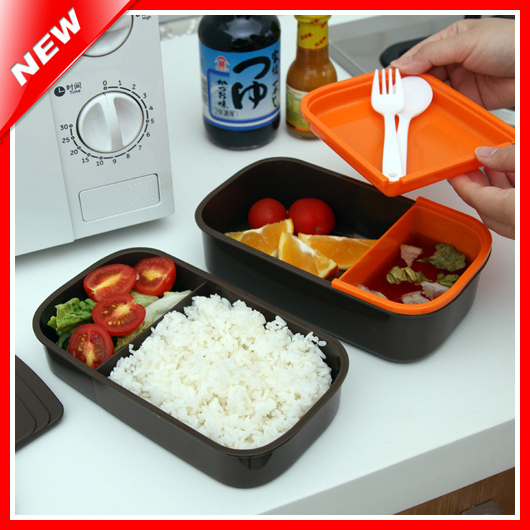 3 Layers Microwave Sushi BentoFood Box For Kids Food Container Food Tableware Bento Box