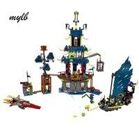 mylb Ninja Ciudad de Stiix Maestros Spinjitzu Building Blocks Ladrillos Ninos Juguetes Compatible Block