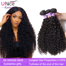 Unice Hair Kysiss hair 8A Malaysia Curly Hair Extension 1/3 /4 Piece 8
