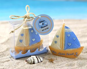 Free shipping 20pcs lot Wedding Favor Candle Love Boat Beach Candle in Gift Box