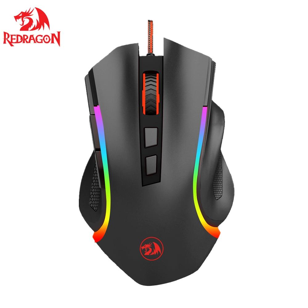 Gaming Mouse 7200 DPI 16.8Million RBG Backlit 8 Buttons Ergonomic Design For Programmable Mice Gamer LOL  MMO Redragon M607