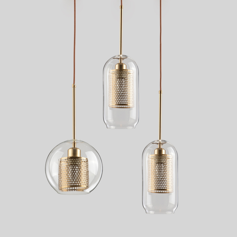 Modern Glass Pendant Lights Nordic Hanging Lamp Living Room Loft Industrial Decor Kitchen Light Fixture Luxury Lustre Luminaire