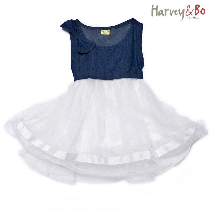 Letní dívky princezna šaty džíny baby batole děti džínové - Dětské oblečení