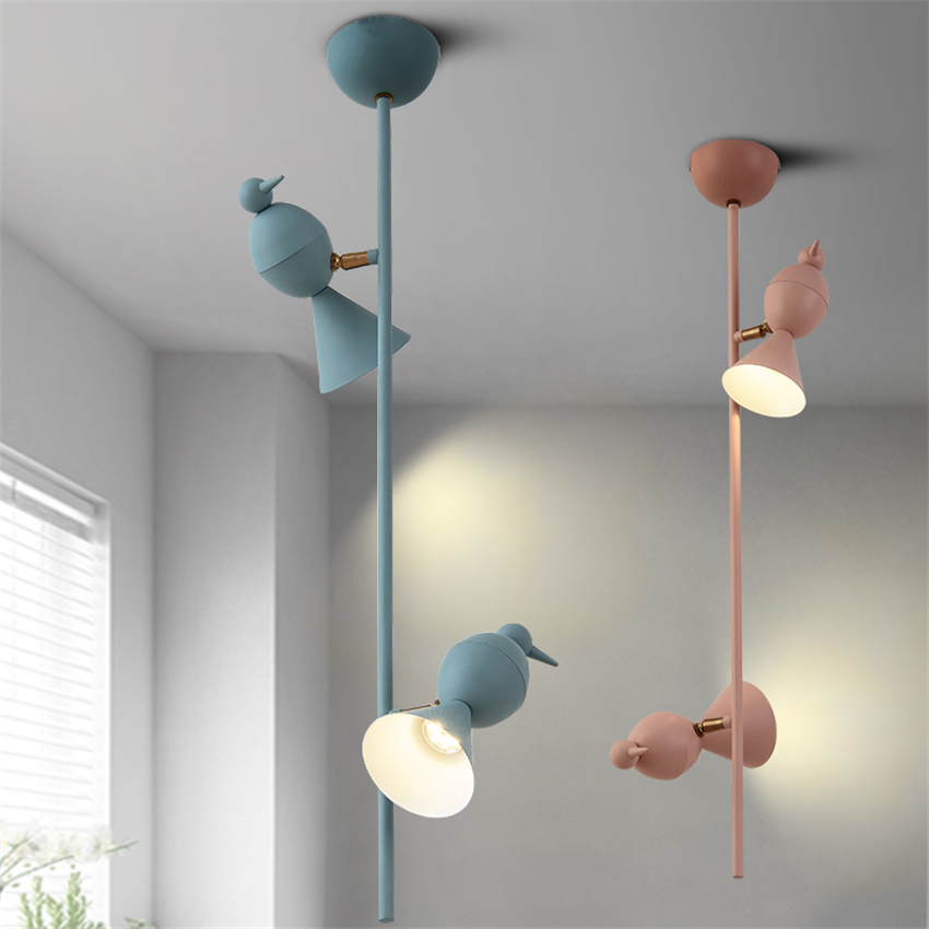 Modern LED Ceiling Lamps Macarons Magpie Iron Color Ceiling Lights Children Bedroom Living Room Hotel Lighting Fixture Luminaire цена и фото