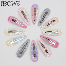12pcs/Set Glitter Hair Clips Set For Girls Candy Color Snap Sweet Silver Barrettes Mini Cute Hairpins Kids Accessories