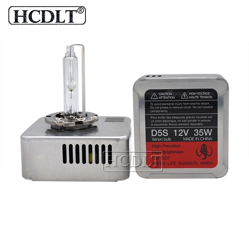 HCDLT véritable 35 W D5S OEM HID ampoule de phare au xénon 5500 K blanc tout en un D5S Kit de Ballast au xénon 9285 410 171 mise à niveau originale 25 W