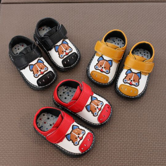 2018 Hot Sale Baby Shoes! First Walkers Baby Boy And Girls Non-slip Casual Baby Shoes With Little Dog For 0-18 Month Kids