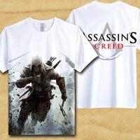 Assasins Creed T shirt Assasins Creed Gioco Film T-shirt degli uomini Freddi di Estate Camicia Uomini Cosplay Bianco Manica Corta Tees