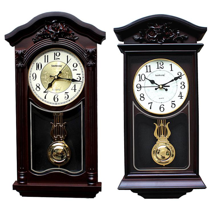Europe Antique Wall Clocks For Living Room 50cm High Vintage Wall Watches Clocks Wall Home Decor Farmhouse Decor Shabby Chic