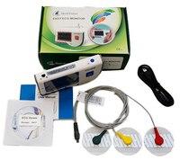 치유 포스 PC-80B 고급 휴대용 심전도 모니터 미니 휴대용 LCD 심전도 심장 모니터 모니터링 건강 기계