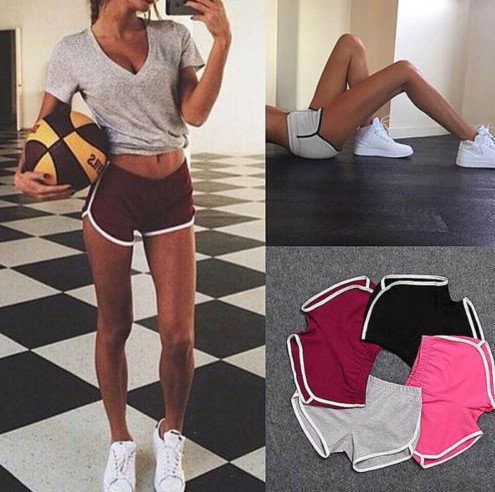 2019 summer hot shorts women's elastic waist short women's wild loose cotton sports casual short women's clothing