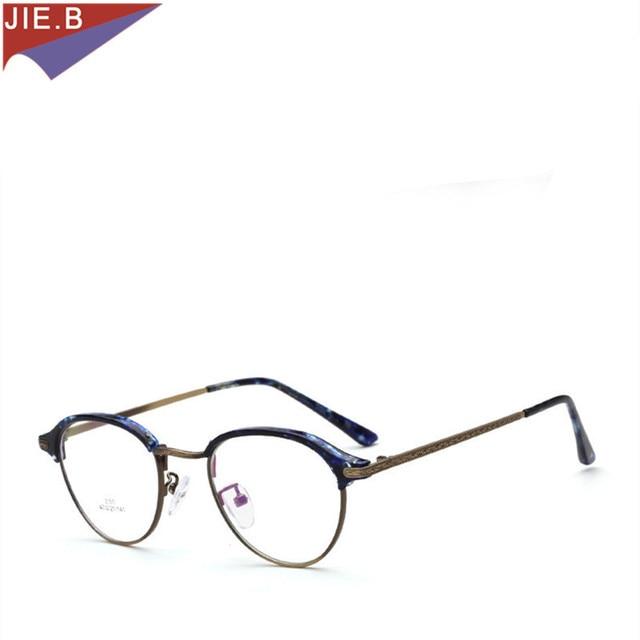 8712a0f6605cb 2018 Armações de Óculos Vidros do Olho Óptico óculos Quadro Miopia De Metal  Redondo Do Vintage