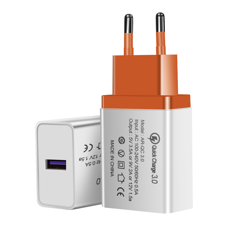 ACCEZZ 3 Port USB Charger Quick Charge 3 0 For iphone 8 X Fast Charging For Samsung S8 Huawei Xiaomi EU Plug Phone Wall Adapter in Mobile Phone Chargers from Cellphones Telecommunications