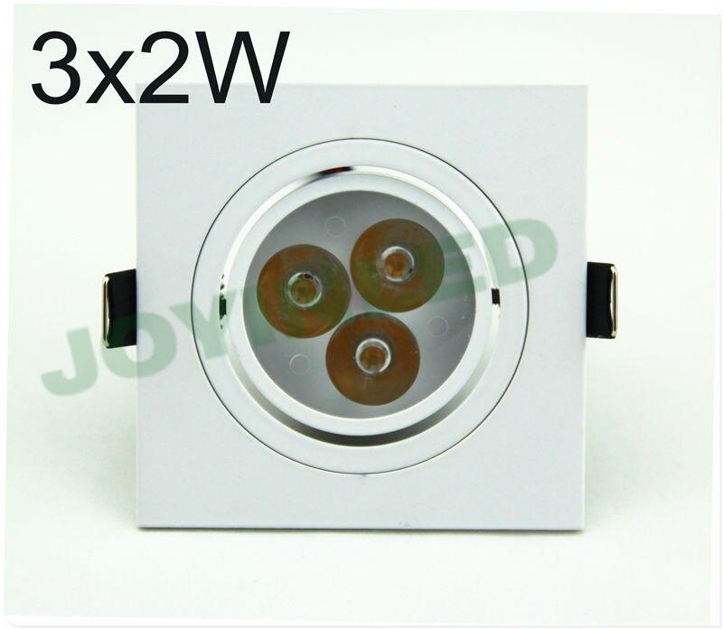 10 шт. 3 Вт 6 Вт квадратный AC85-265V светодиодный kicthen Потолочные светильники теплый холодный белый Светодиодный прожектор светодиодный светильник