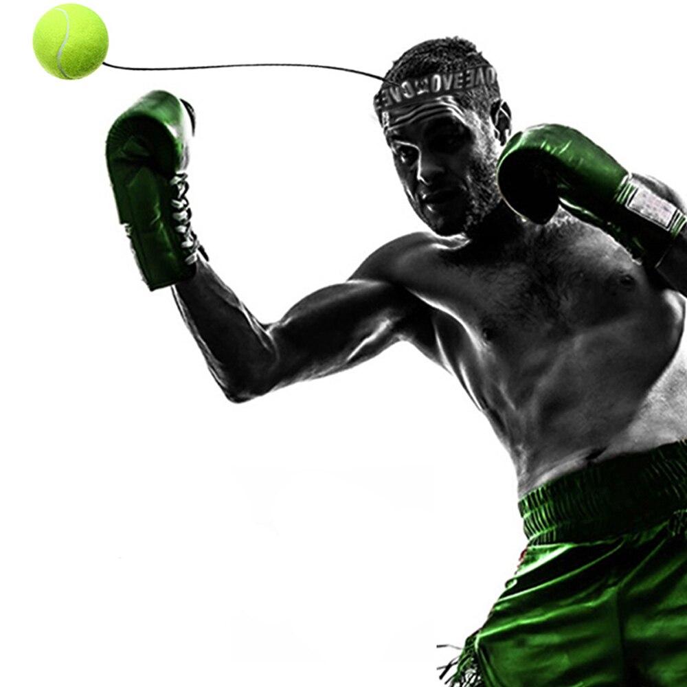 Balle de Combat avec Bande de Tete pour Entrainement de Boxe MMA Exercice de