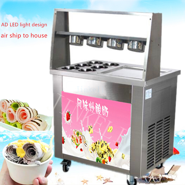 Free air ship CE R410 R22 thailand single square pan Fried Ice Cream Machine Single Pan frying ice pan machine with ten buckets george j love полусапоги и высокие ботинки