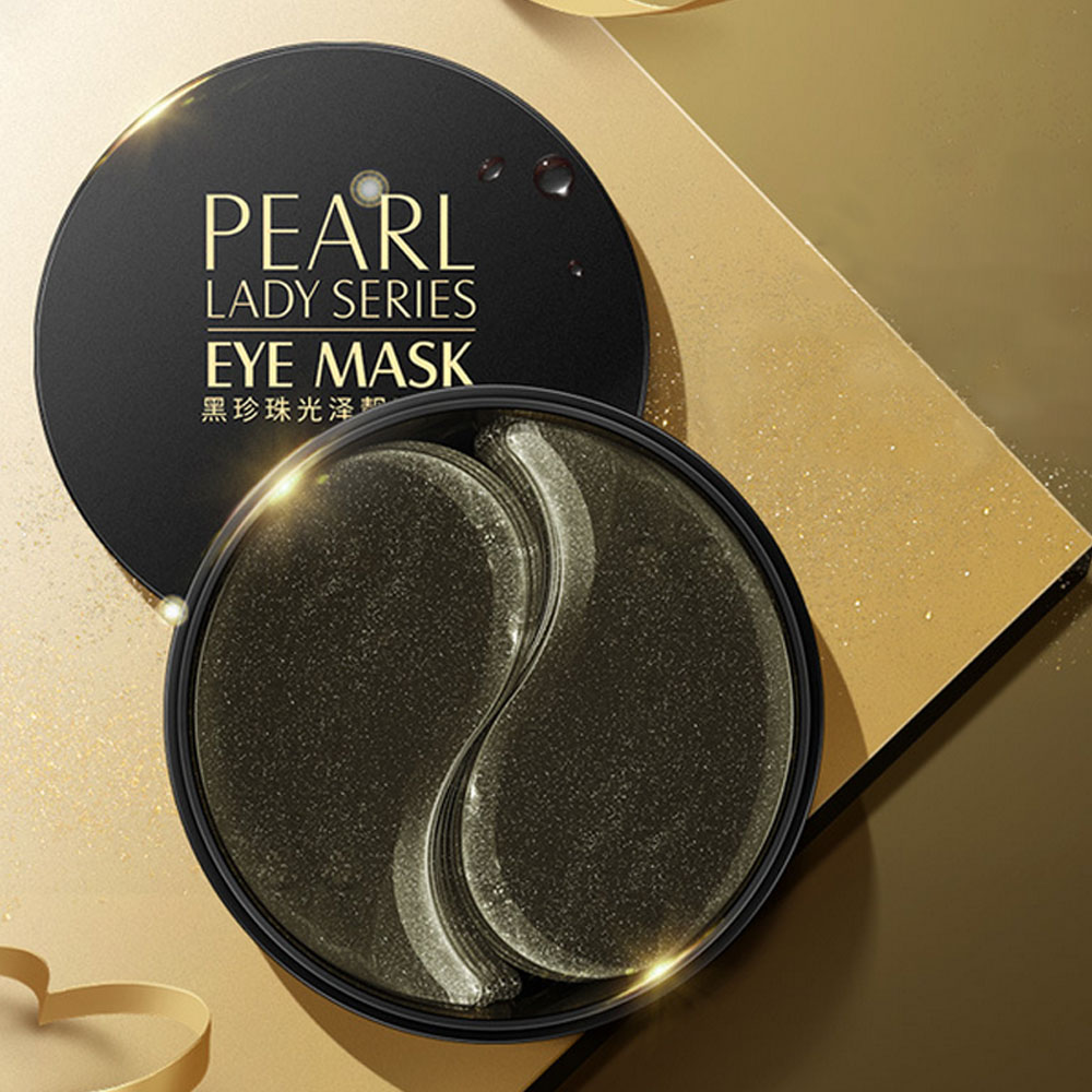 Black Pearl Collagen Mask Natural Moisturizing Gel Eye patches Remove Dark Circles Anti Age Bag Eye Wrinkle 60 Piece Skin Care 3