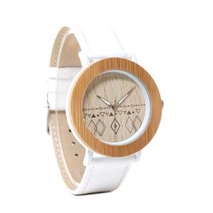 Image 4 - BOBO VOGEL WE24 Unisex Top Marke Designer Armbanduhren Für Frauen Natur Bambus & Stahl Uhren in Geschenk Boxen Dropshipping OEM
