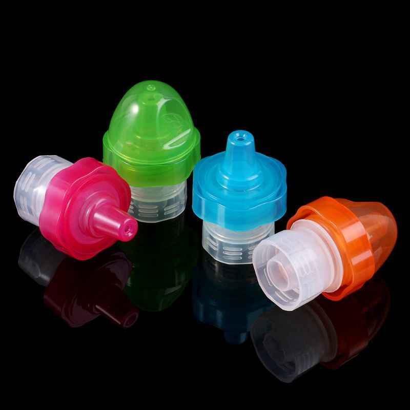อะแดปเตอร์ขวดสำหรับทารกเด็กถ้วยดื่มอุปกรณ์หัวนม Leaf แบบพกพาหมวกน้ำขวดอุปกรณ์สำหรับกลางแจ้ง