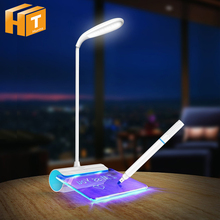 Message Board LED Desk Lamp USB Rechargeable Touch Switch Dimmable Table Lamps Creative Night Light for gitt. 2016 creative pyramid led night light lamp ac 100 240v 4w usb rechargeable led desk light touch dimmable table lamp