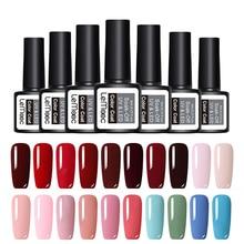 LEMOOC 70 Colors Gel Nail Polish 8ml Soak Off UV Pure Colros Professional Art Manicure Lacquer