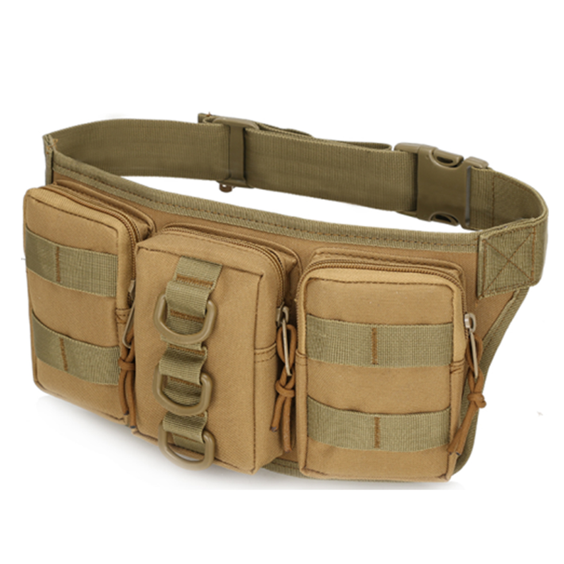Small-sized Outdoor Waterproof Tactical Three-pouch Waist Bag For Nerf CS Hiking Fishing Sports Hunting Waist Bags Belt free knight 3 5l tactical molle bag waist bag waterproof hiking fishing sports hunting waist bag camping sport bag