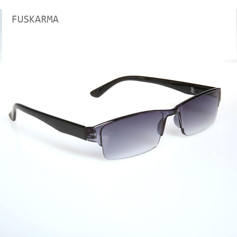 Modna nova ultra lahka plastična očala za branje za moške ženske enodelna prezbiopična očala Zunanja sončna očala za starejše