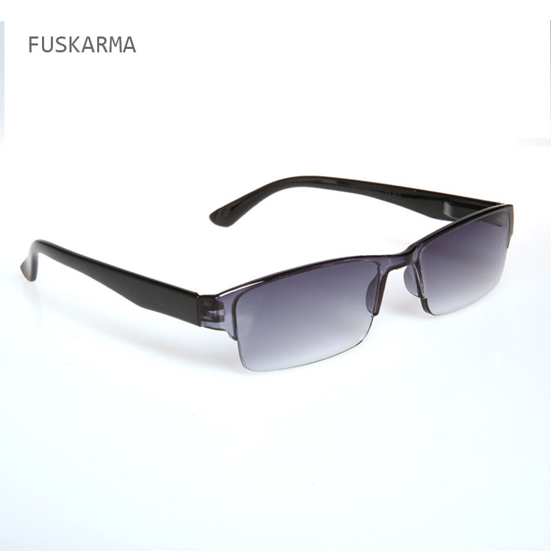 Fashion New Ultra-light Rimless Plastic Reading Glasses For Men Women One-piece Presbyopic Glasses Outdoor Sunglasses For Older
