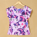 2016 coreano impressão 3d My Little Pony american apparel geek harajuku kawaii tumblrt T shirt mulheres camisetas do punk rock sexy mujer