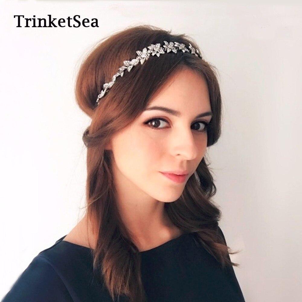 TrinketSea 2017 Nuevo Lujo De La Vendimia de Cristal Delicado Elástico HairBand