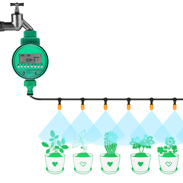 Smart Automatic Intelligent Watering Timer Irrigation Controller Garden Tool Drip House Automatic Watering System Sprinklers