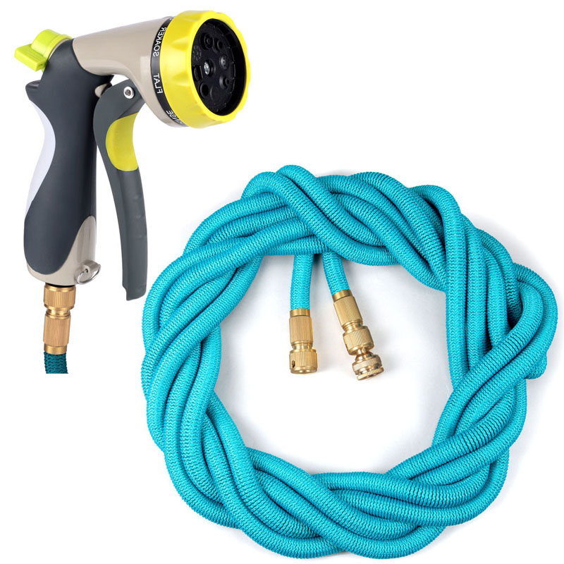 EAAGD 1Set Garden Water Expandable Hose Solid Brass Connector,Durable Latex  Core And Strength Fabric Polyester 50FT/75FT/100FT