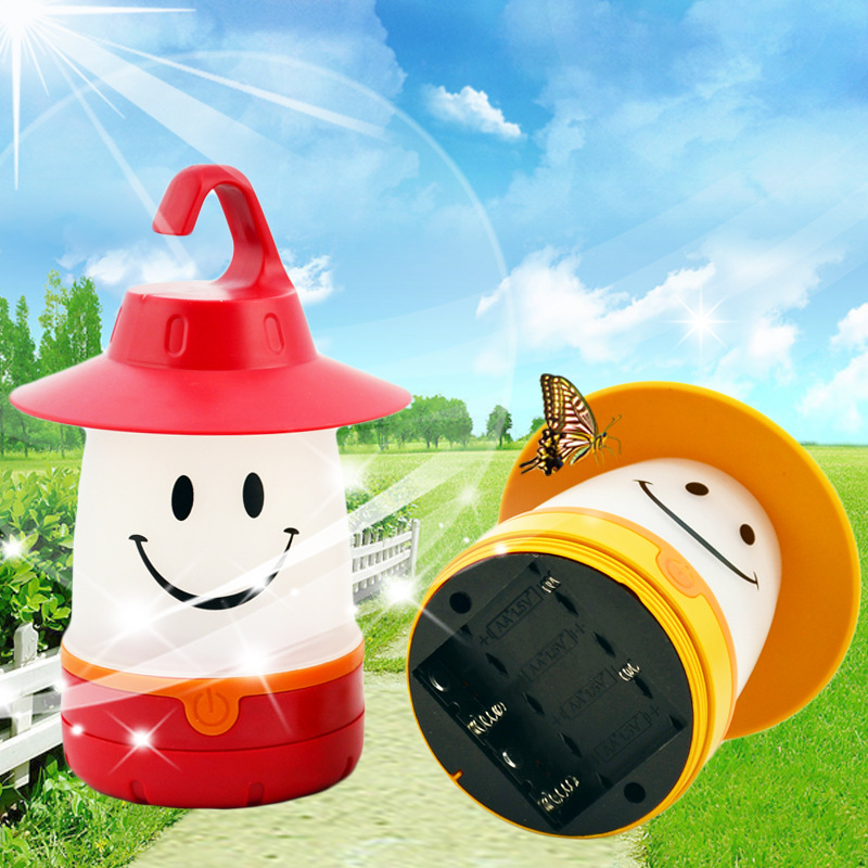 Student Bedroom Portable Camping Light Night Light LED Light Creative Smile Cartoon Night Light Kids Bedside Light Gift Light