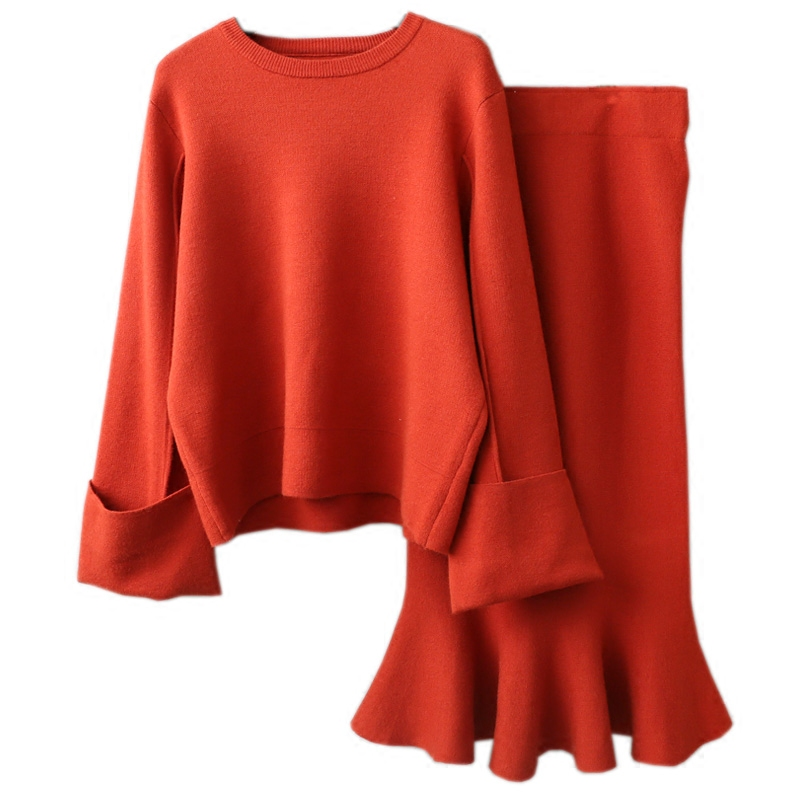 Autumn Winter Office Lady Women Sweater And Pullovers Butterfly Sleeve Ruffles Solid Thick Pull Female Fashion Sexy Knitted 0.64