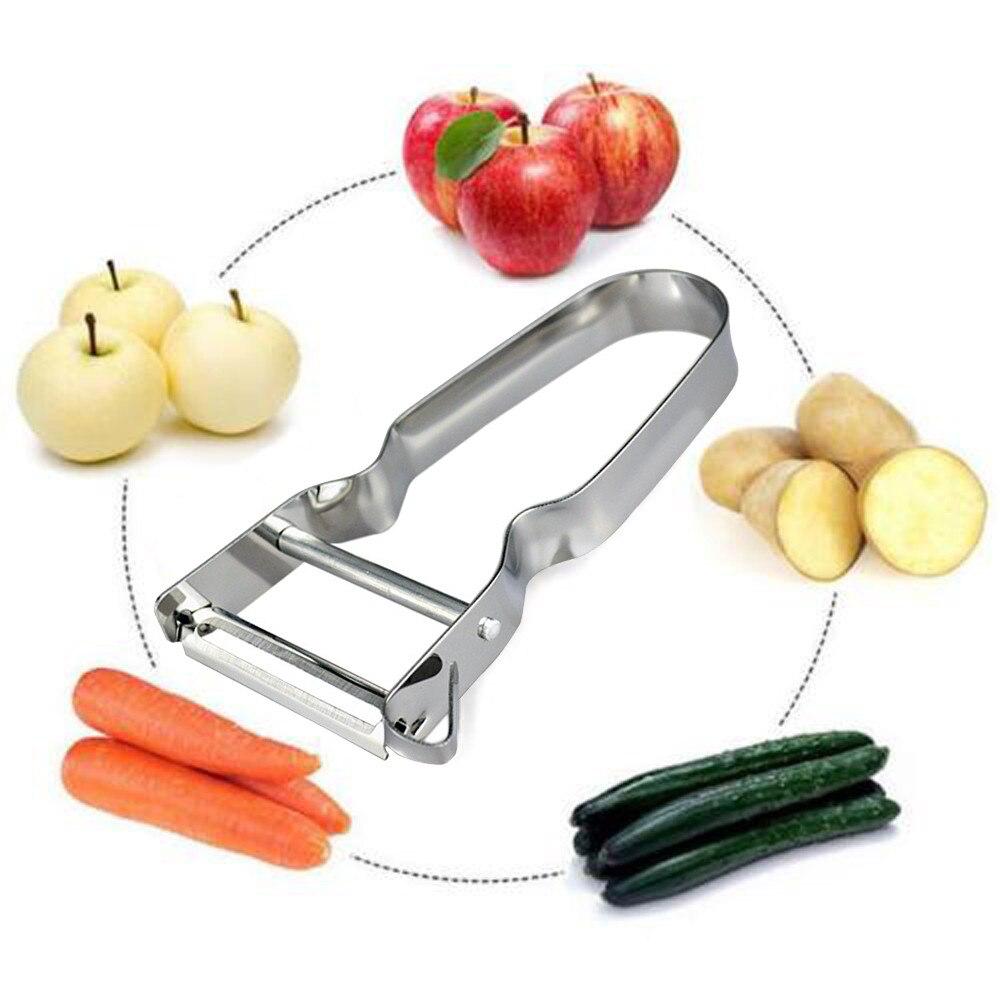 2pcs Stainless Steel Potato Peeler Fruit Vegetable Spud Speed Slicer Cutter Tool