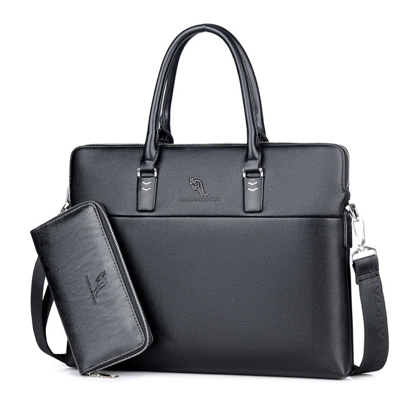 Male Bolsa Luxury Brands Business Men'S Handbags Messenger Shoulder Bags High Quality Leather Satchels Laptop Computer Handbags