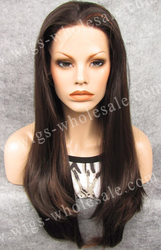 ФОТО Marie Antoinette Style Synthetic Straight Brown Lace Front Wigs For Black Women