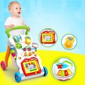 0-2Y Alta Calidad Andador Coche Ayuda Walk Aprendizaje Infantil Actividad Musical Andador con Ruedas Plegable Del Coche Ajustable