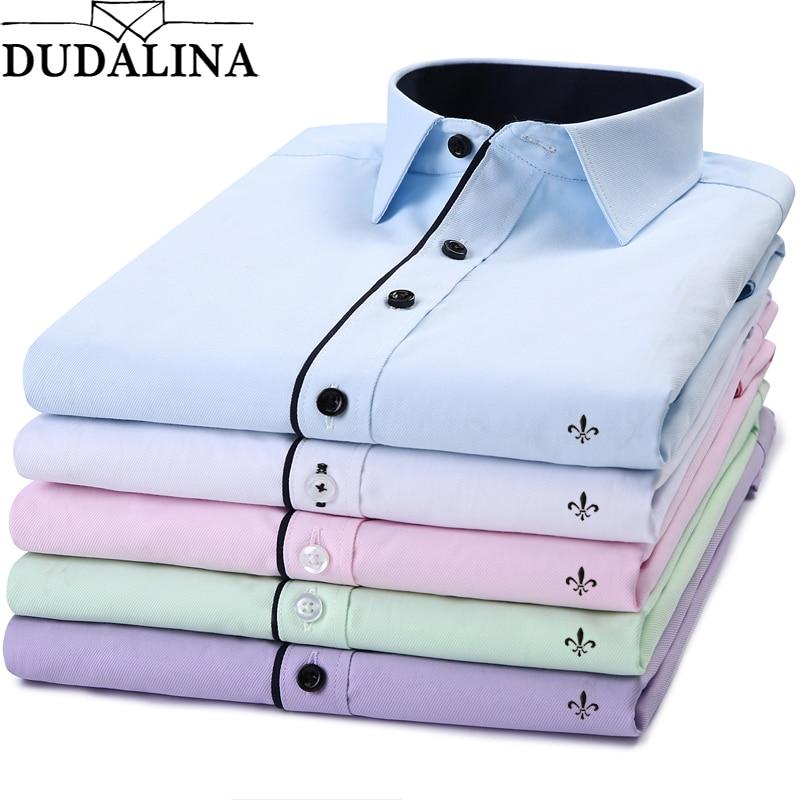 DUDALINA 2018 New Classical Dress Shirt Male Shirt