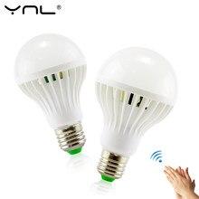 Lampada led 220V lámpara 3W 5W 7W 9W 12W luz sensor de sonido E27 LED bombillas de luces SMD 5730 ampolla focos bombillas led inteligentes