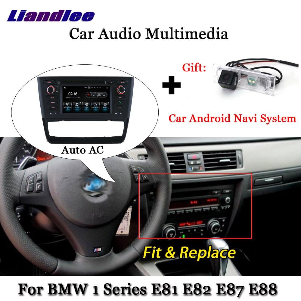 Liandlee Android pour BMW 1 série E81 E82 E87 E88 Auto AC 2004 ~ 2013 Radio Wifi TV caméra Carplay GPS Navi Navigation multimédia