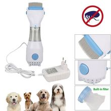 Electric Flea Comb Treatment Safe Pet Head Lice Kills Hair Cleaner For Cats Dogs Physical Tick Capture Supplies
