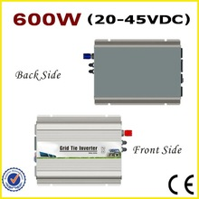 600W 20-45VDC Grid Tie Inverter 24V/30V/36V DC to AC90-140V or 190-260V Pure Sine Wave Output Solar Power Home Use Inverter