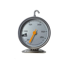 Baking Bimetal Thermometer Hanging Vertical Oven Thermometer with Dual Gauge Precision Thermometer 280 Degree Cooking Tool 0 100 c degree stainless steel bimetal thermometer g1 2 thread 200f 100mm probe