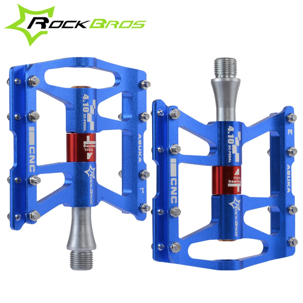 ROCKBROS CNC pédales de vélo de route de montagne ultra-léger Comium en alliage de molybdène pédales de vélo vtt scellé 4 pièces de pédales de roulements