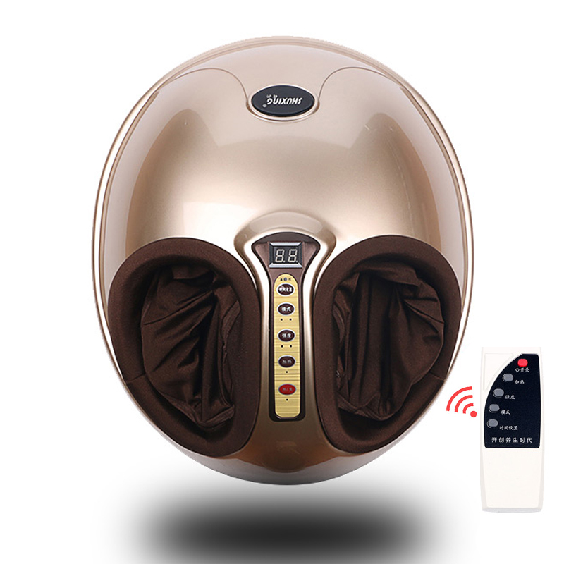 Free Shipping RU Shiatsu Reflexology Vibrating Roller Foot Massager <font><b>Health</b></font> Massage Infrared Heating Electric Automaton Heating