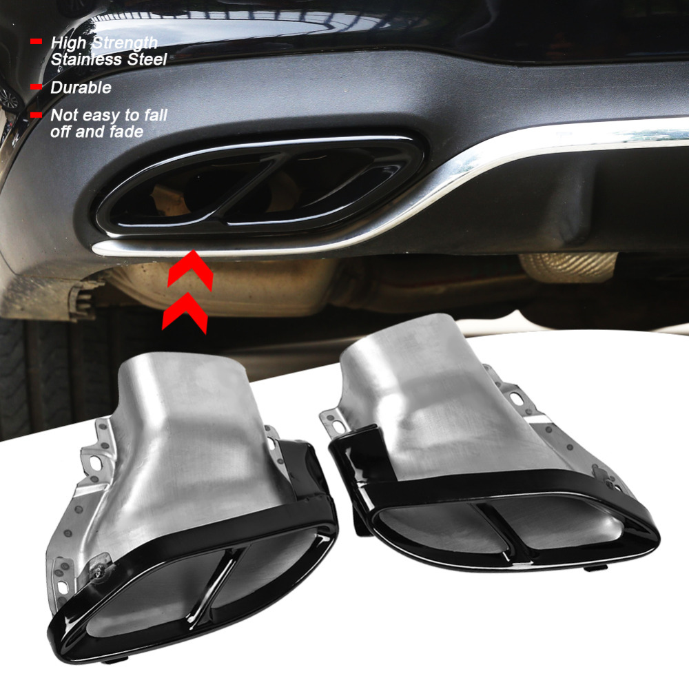 Car Exhaust Muffler Tailpipe Rear Pipe for Mercedes Benz A/B/C/E Class W205 W212 W213 auto accessorie Stainless Steel New