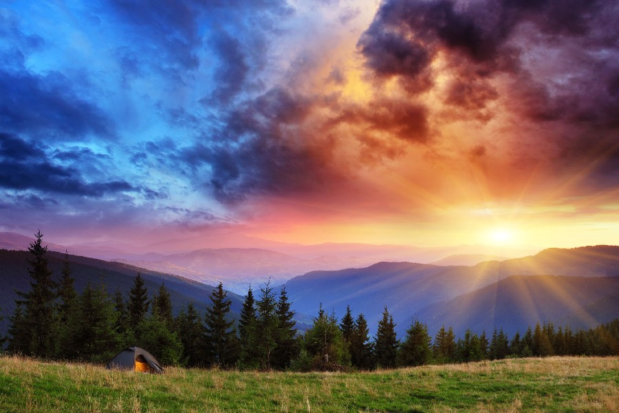 sunrise pictures in the mountains -